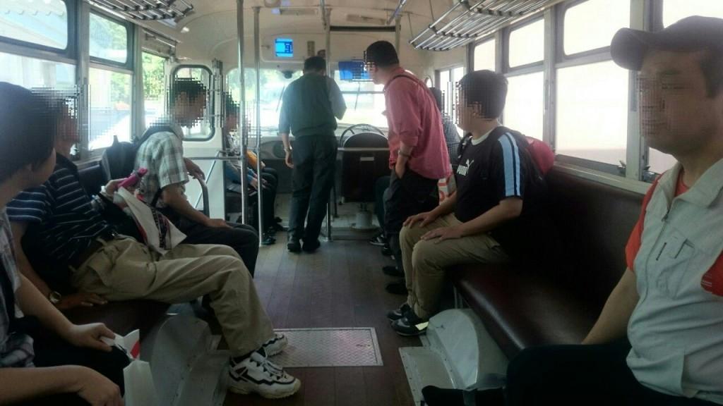 バスの展示もあり、乗車できました。